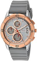 Fossil Women's Quartz Stainless Steel and Silicone Automatic Watch, Color:Grey (Model: ES4042)