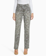 Gloria Vanderbilt Gray Floral Jeans - Plus