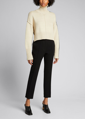 Peter Do Cropped Oversized Turtleneck Sweater