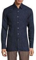 Canali Regular-Fit Solid Linen Shirt