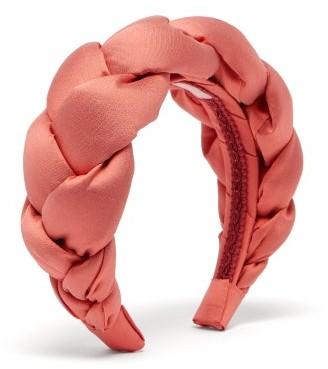 Marta Ferri - Braided Silk-satin Headband - Pink