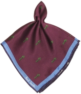 Paul Smith Damson Gufram Cactus Print Silk Men's Pocket Square