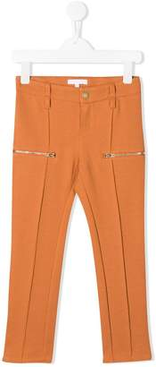 Chloé Kids smart trousers with zip detail