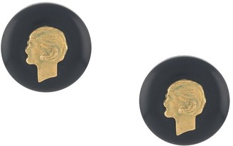 Chanel Pre Owned 1994 Mademoiselle button earrings
