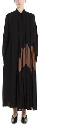 Jil Sander Pleated Maxi Shirt Dress