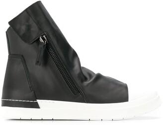 Cinzia Araia two tone hi-top sneakers