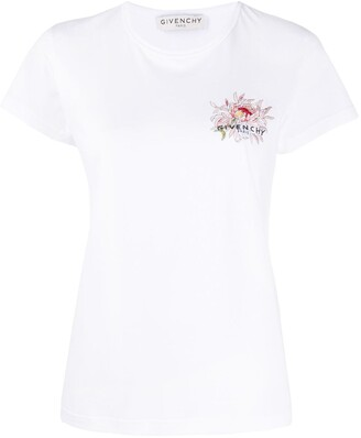 Givenchy Floral Embroidered Slim Fit T-Shirt