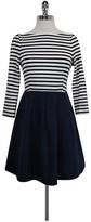 Kate Spade Navy Blue Striped Dress