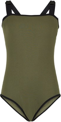 New Look Girls Ribbed Buckle Swimsuit