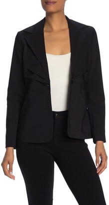 Laundry by Shelli Segal Pleated Single Breasted Blazer