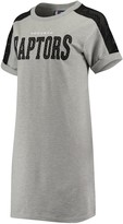 G Iii Women's G-III 4Her by Carl Banks Gray/Black Toronto Raptors Off-Season French Terry Sneaker Dress