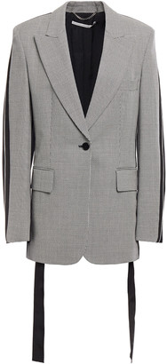 Stella McCartney Grosgrain-trimmed Houndstooth Wool Blazer