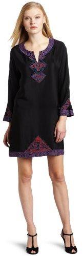 WGACA WHAT GOES AROUND COMES AROUND Women's Margot Embroidered Dress