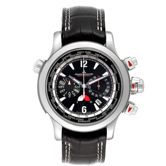 Jaeger-LeCoultre Jaeger Lecoultre Black Stainless Steel Master Compressor Extreme 150.8.22 Men's Wristwatch 46.3 MM