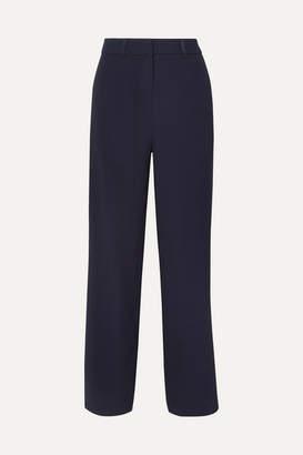 Dion Lee Satin-trimmed Crepe Wide-leg Pants - Navy