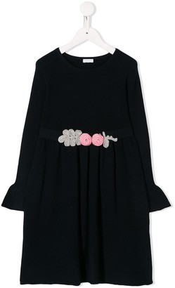 Il Gufo Knitted Flowers Dress