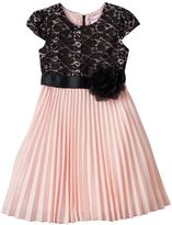 Nannette Girls 4-6x Lace Pleated Dress