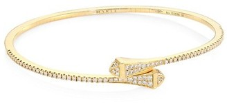 Marli Cleo By 18K Yellow Gold & Diamond Bangle Bracelet