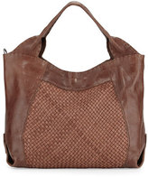Henry Beguelin Beverly Woven Double-Handle Tote Bag, Tan