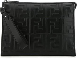 Fendi FF Embossed Clutch Bag