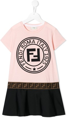 Fendi logo T-shirt dress