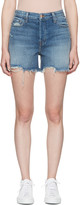 J Brand Blue Denim Ivy High-rise Shorts