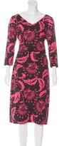 David Meister Floral Print Midi Dress