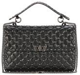 Valentino Rockstud Spike chain leather shoulder bag