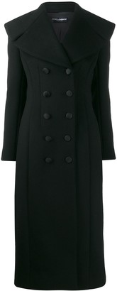 Dolce & Gabbana Oversized Lapel Long Coat