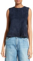 Vince Women's Crop Suede Shell