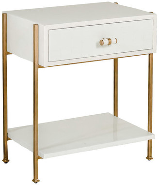 Gabby Jolene Bone White and Gold Side Table
