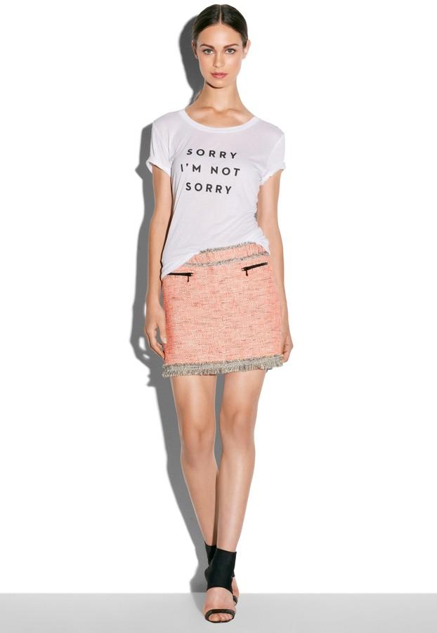 Milly Zip Pocket Mini Skirt