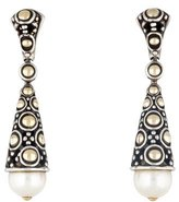 John Hardy Two-Tone Pearl Dot Drop Earrings