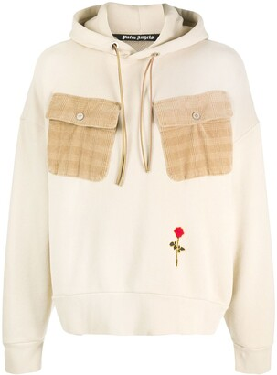 Palm Angels Rose contrasting pockets hoodie