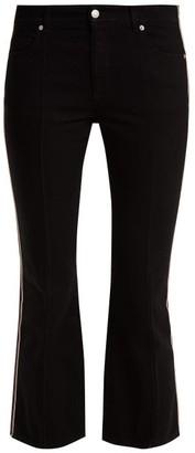 Alexander McQueen Kickback Mid-rise Side-stripe Jeans - Womens - Black