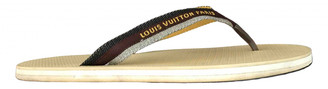 Louis Vuitton Molitor Brown Cloth Sandals