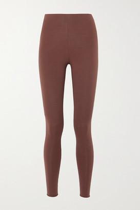 Skin Calypso Stretch Organic Pima Cotton Jersey Leggings - Brown