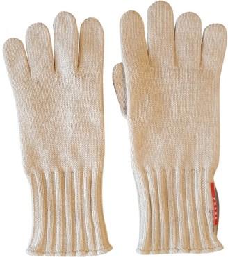 Prada Beige Cashmere Gloves
