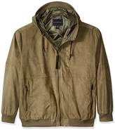 Sean John Men's Big and Tall Suede Leather Hoodie