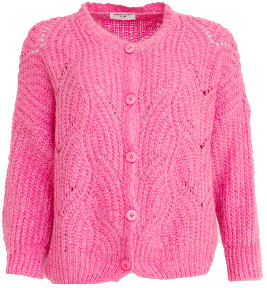 Sweet Like You - Buttoned Knitted Cardigan Pink - one size