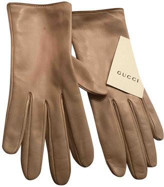 Gucci Pink Leather Gloves