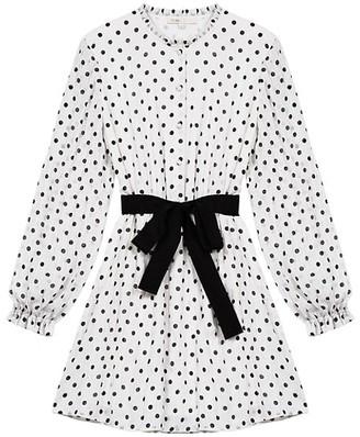 Maje Rely Polka Dot Mini Dress