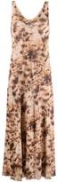 Nanushka tie-dye print V-neck maxi dress