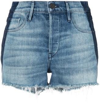 3x1 Frayed Mid Rise Shorts