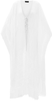 Missoni Fringed Zigzag-knitted Coverup - White