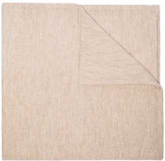 LAUREN MANOOGIAN Rolled Trim Knit Scarf