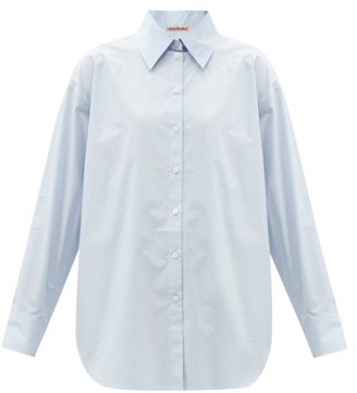 Acne Studios Point-collar Cotton-poplin Shirt - Light Blue