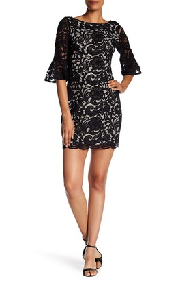 Vince Camuto Lace Bell Sleeve Dress