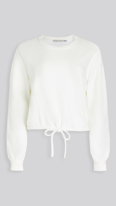 Alice + Olivia Bernetta Crop Pullover with Drawstring