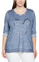 Via Appia Women's Rundhals 1/1 Arm Motiv Materialmix T-Shirt